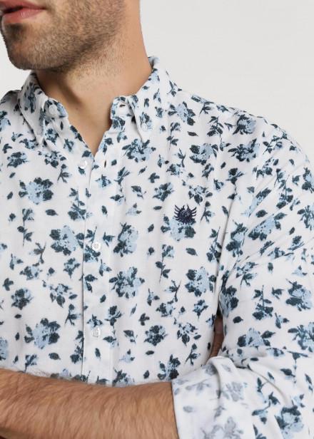 Camisa estamapada flores