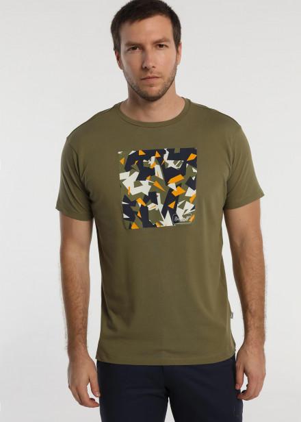 Camiseta  manga corta grafica camuflaje geometrico