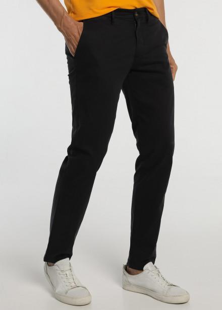 Pantalón chino slim saten