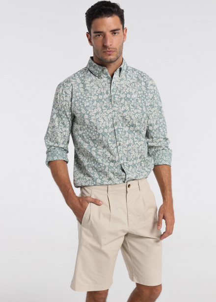 Camisa de manga larga estampada