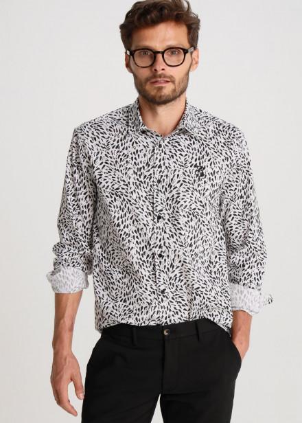 Camisa Popelin Estampado Abstracto