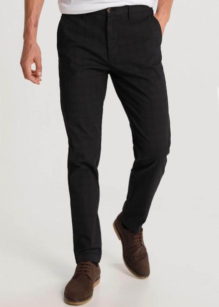 Pantalon Estampado Cuadros Detalle Cremallera