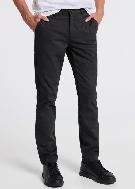 Pantalon Estructura Dark Grey Slim Fit