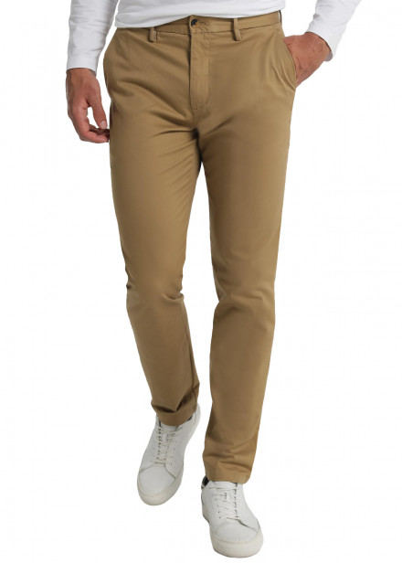 Pantalon Chino Slim Saten